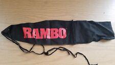 "17"" Scabbard RAMBO Knife Belt Holder Black Red"