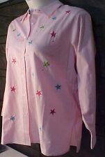 NWOT M 12-14 TALL Women/Misses QUACKER FACTORY Tunic Top/Shirt/Blouse Pink Stars