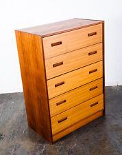 Mid Century Danish Modern Dresser Highboy Teak Nils Jonsson Denmark Vintage Wood