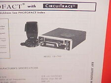 1977 RAY JEFFERSON CB RADIO SERVICE SHOP MANUAL MODEL CB-740
