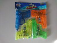 4 er Pack kleine Wasserpistole Mini 10cm grün blau orange gelb Wasser Pistole