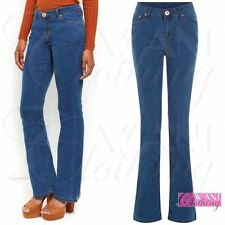 Unbranded Women's Mid Flared, Kick Flare Jeans