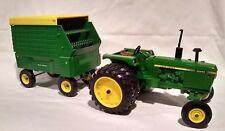 Ertl John Deere 4040 Tractor and Hay Wagon 1/16 Diecast Farm Toy
