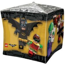 "LEGO BATMAN BALLOON 15"" 3-D CUBEZ BATMAN MOVIE PARTY SUPPLIES ANAGRAM BALLOON"