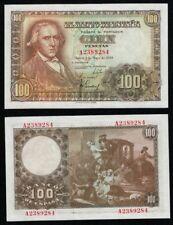 PAREJA PLANCHA 100 Pesetas 1948 Serie A 2389284-285. SIN CIRCULAR CON SU APRESTO