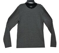 $49 Designer GUESS Macy's Men's Black  Striped Crew Neck Pullover Sweater Small