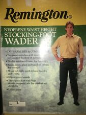 NIB Remington Neoprene Waist Height Stocking-Foot Wader Large -  Free Shipping