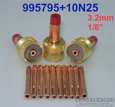 """13 pcs Large Gas Len Collet Body and Collets Tig Torch WP-17/18/26 3.2mm 1/8"""""""