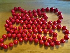 """The Head 34"""" Long Beaded Necklace� �Jewelry Garage Sale!� Pretty Red Over"""