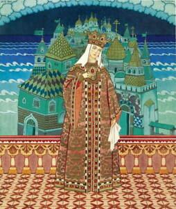 Ivan Bilibin Tsaritsa Militrissa Giclee Art Paper Print Poster Reproduction