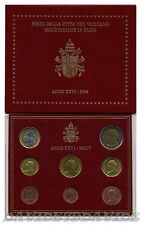 VATICANO 2004 - DIVISIONALE UFFICIALE MONETE  EURO PAPA GIOVANNI PAOLO II - FDC