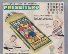 Pubblicità anni 50 cinquanta  PRESBITERO pastelli canova matite