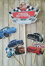 Disney Cars cake topper Set cake decor lightning mcqueen personalised