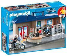Playmobil 5299 Malette Siège de police Station police avec 3 Figurines et Moto