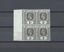 ST LUCIA 1912-21 SG 85A MNH/MINT Blocks of 4 Cat £68