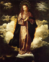 Oil painting Diego Velazquez - The Immaculate Conception Madonna Virgin canvas