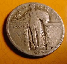1929 D QUARTER Fine Condition STANDING LIBERTY Only 976,400 Made