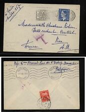 Belgium  cover to France with postage due stamp  1953            HC0417