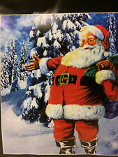 Santa Claus Clause Tree Winter Snow Christmas Soft Fleece Throw Blanket NEW