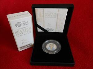 2017 Beatrix Potter Tom Kitten UK Silver Proof 50p 0693 of 1000 LEdtn Black case