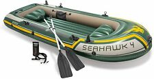 Intex 68351np-inflatable boat seahawk 4 with paddle 351 x 145 x 48 cm