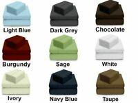 Luxury Tencel Pillow Sheet Set 400 TC Best Material Multi Color-Size-Drop