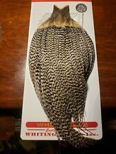 Whiting Dry Fly Hackle Cape Used Grizzly