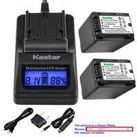 Kastar Battery LCD Fast Charger for Panasonic VW-VBT380 VBT380 VW-VBT190 VBT190