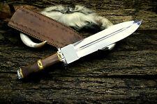 16 INCHES D2 Steel Custom Handmade rose wood Handle Dagger