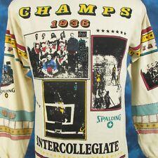 NOS vtg 80s SPALDING INTERCOLLEGIATE BASKETBALL L/S JERSEY T-Shirt SMALL ncaa