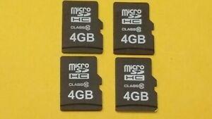 4x 4GB Micro SDHC Class10 Memory Cards