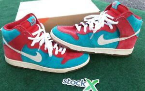 Nike Dunk High Premium SB 2008 Bloody Gums Size US 9.5 Rare OG Dunks