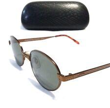 RARE VINTAGE SERENGETI SUNGLASSES Copper Round Frames w/ Grey Lenses 5598V
