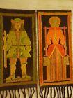 Vintage Mid Century Cepelia Polish Woven Tapestry Folk Art Kilim Rug. This gorge