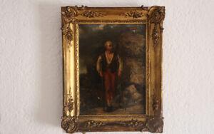 Huile sur toile, vieillard, Début XVIIIe, Pays-Bas / Oil on canvas, old man,18th