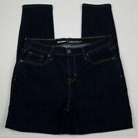 Old Navy Mid Rise Curvy Skinny Jeans Womens Size 6 Short Blue Stretch Dark Wash