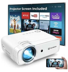VANKO L430W WiFi Projector (2021 Upgraded) 6000 Lumens Wireless Screen Mirroring