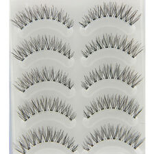 5 Pairs Natural Soft Long False Makeup Eyelashes Cross Extension Fake Eye Lash