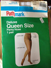 exciting! Vintage Pathmark Queen white pantyhose