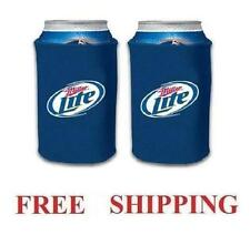 Miller Lite 2 Beer Can Coolers Koozie Coolie Huggie Coozie New