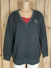 BON WORTH Womens Size Medium Long Sleeve Sweater Gray Cotton/ Poly Top A10