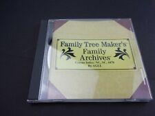 Family Tree Maker Archives Census Index: Nc Sc 1870 Pc Cd North & South Carolina