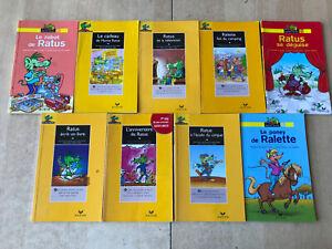 lot 9 livres Ratus Poche - Série Jaune / 6-7 ans débutants - Hatier