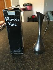 Antique Vintage Silver Plated Trumpet Bud Flower Vase Collectible Home Decor