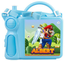 Personalised Kids Lunch Box + Bottle Any Name Mario Childrens Boys School Gift 1