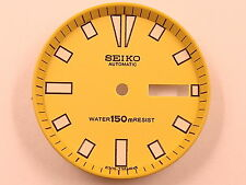 Brand New YELLOW DIAL & CHAPTER RING for SEIKO 6309-7290 6309-729A Divers Watch