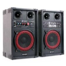 (B-WARE) AKTIVES DJ PA BASS BOXEN LAUTSPRECHER SET 400W PARTY SOUND SYSTEM USB