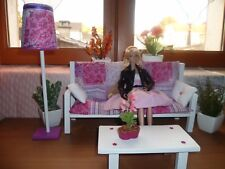 CANAPE/ SOFA + TABLE BASSE  + LAMPE   FASHION ROYALTY  POPPY PARKER  BARBIE 1/6
