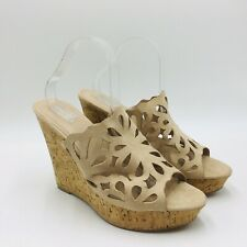 Charles By Charles David April Cutout Wedge Sandal Size 12M Beige, MSRP $99