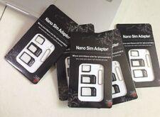 25 x Joblot Sim Card Adapters Micro New Mini Nano iPhone Mobile Phone Business